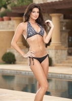 5786 Dreamgirl Swimwear,  Fully lined halter swimsuit bikini top