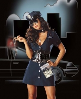4005 Dreamgirl Costume, Corrupt Cop, Snap front dress with attache