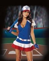 4037 Dreamgirl Costumes,  Costume, Fantasy Player, Zipper front d