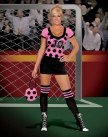 5052 Dreamgirl Costumes,  Costume, world cup kicker, stretch knit