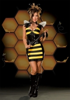 5133 Dreamgirl Costume, Miss Bee Have Costume, striped knit and vinyl