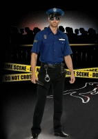 5150 Dreamgirl Costume, You re Busted Policeman, Button front shirt