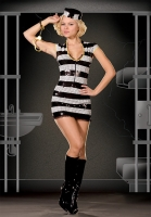 5154 Dreamgirl Costumes, jailhouse rock star, sequin front stretch kn