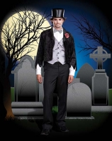 5889 Dreamgirl Men Costume, Corpse Groom Barry D Alive, Crushed vel