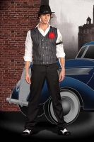 5950 Dreamgirl Men Costumes, Gangster Rob N. Banks Costume, Double br