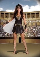 6422 Dreamgirl Costume, Babe-A-Lonian Warrior Queen, Metallic brown s