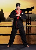 6436 Dreamgirl Costume, Hung Lo, Karate style wrap front shirt with c