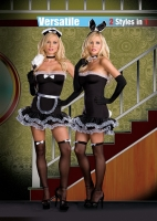 6444 Dreamgirl Costume, Hop to It, Versatile french maid bunny microf