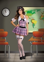 6453 Dreamgirl Costume, Sassy Sweet High Schoolgirl, Plaid print knit