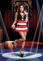 6459 Dreamgirl Costume,  Cirque, Stretch knit dress with tiered r