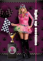 6476 Dreamgirl Costume, LIGHTnin Speed Sweetie, light up Gloss dress