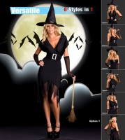 6489 Dreamgirl Costume, Hocus Pocus, Microfiber versatile dress can b