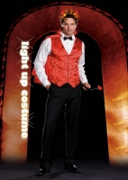6502 Dreamgirl Costume, Handsome Devil, Satin flame print jacquard bu