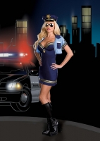 6511 Dreamgirl Costume, Officer Sheila B. Trouble, Stretch knit soft