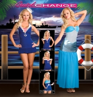 6533 Dreamgirl Costume, Tail of 2 Seas, Quick change double layer dre
