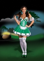 6542 Dreamgirl Costume, Iris U. Luck, Shiny knit dress with faux lace