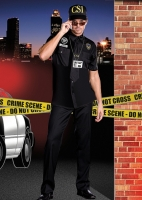 6555 Dreamgirl Costume, Detective Dick Perfecto, Button front shirt w