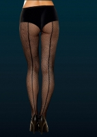 7034 Dreamgirl Pantyhose, Fishnet pantyhose with back seam.