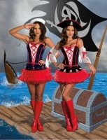7592 Dreamgirl Costume, Dames at Sea Fully reversible stretch knit co