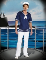 7638 Dreamgirl Costume, Pleasure Cruise Knit top with sailor collar a