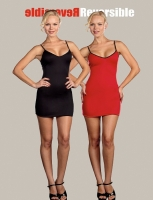7823 Dreamgirl Costume, Reversible Starter Dress Stretch knit fully r