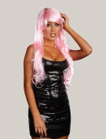 7839 Dreamgirl Wig, Pink Glamour Wig Long Synthetic Hair Wig With Ban