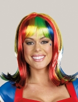 7840 Dreamgirl Wig, Light Up Rainbow Wig Light-up multi colored synth