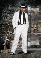 8105 Dreamgirl Male Costume, Zoot Suit Riot Button front longer lengt