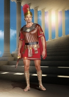 8124 Dreamgirl Male Costume, Marcus Abonius Men's tunic with attached