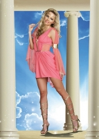 8127 Dreamgirl Costumes, Goddess of Glam, Stretch knit and mesh dress