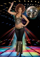 8161 Dreamgirl Costumes, Stayin' Alive, Disco inspired stunning holog