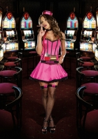 8166 Dreamgirl Costume, Cigar Smokin' Sweetie Fully boned corset styl