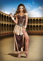 8181 Dreamgirl Costume, Remember the Trojans Convertible corset style