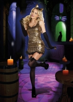 8183 Dreamgirl Costume, Cat Walk Kitty Animal print sequin dress with