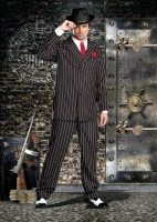 8190 Dreamgirl Male Costume, Gangsta Black and white pinstripe double