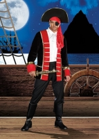 8193 Dreamgirl Male Costume, Wild at Sea Black and red velvet pirate'