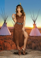 8198 Dreamgirl Costume, Hot On The Trail Native American styled ultra