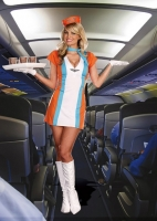 8202 Dreamgirl Costumes, Coffee, Tea, or Me!, Vintage styled flight a