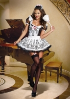 8211 Dreamgirl Costume, Maid To Order Ruffled pinafore apron combines