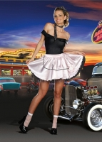8231 Dreamgirl Costume, Fabulous 50's Flirty satin Poodle skirt with
