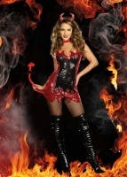 8234 Dreamgirl Costume, Hell with That!  Red and black sequin dress,