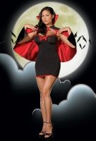 5032X Dreamgirl Plus Size Costume, Vampire Sheila Tackya  stretch