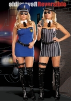 5868X Dreamgirl Costumes, The Dirty Double, Fully reversible stretch