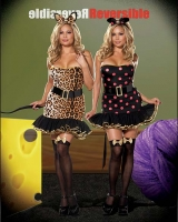 5976X Dreamgirl Plus Size Costume, When the Cat s Away Costume, Ful