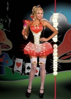 6399X Dreamgirl Costume, Queen of Heartbreakers, Stretch knit adjusta