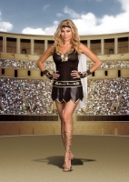 6422X Dreamgirl Costume, Babe-A-Lonian Warrior Queen, Metallic brown