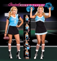 6475X Dreamgirl Costume, Dream Team, Quick change double layer stretc