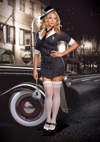 6506X Dreamgirl Costume, Smooth Criminal, Pinstripe knit double breas
