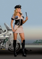 6515X Dreamgirl Costume, Highway Patrol, Officer Dusty Roads, Two-way