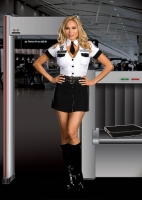 6519X Dreamgirl Costume, strip search officer tara u. clothesoff, plu